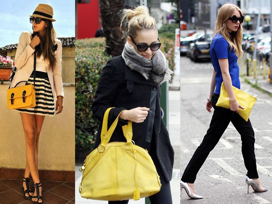 Bolsa Dourada Combina Com Que Roupa : Look com bolsa amarela deby dicas