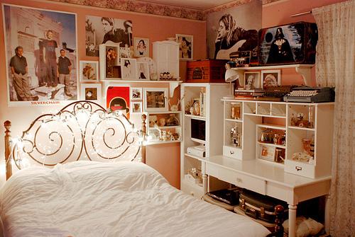 Decoração vintage retro para quartos femininos Fiama ~ Quarto Rustico E Barato
