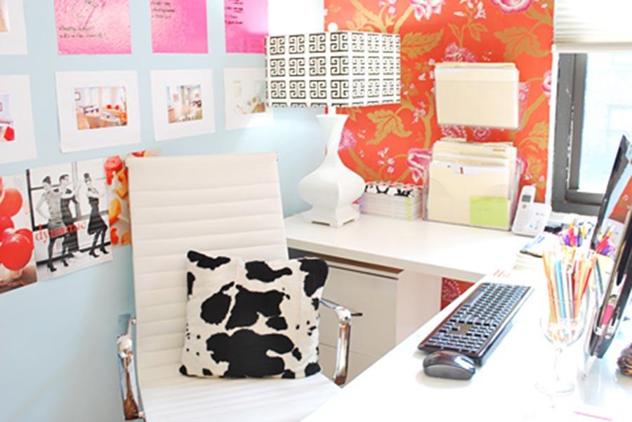Decoraç u00e3o para escritório feminino -> Decoraçao De Escritorio Feminino