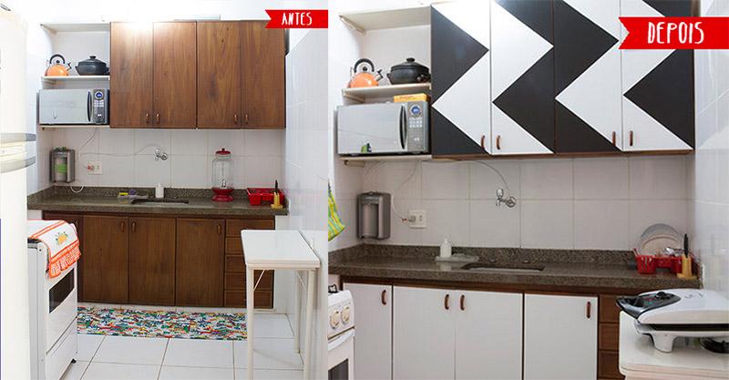 Transformação da cozinha de  Vivianne Pontes dcoracao.com